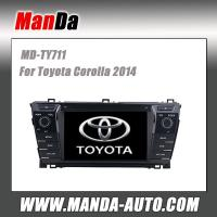 Quality hot sell car radio for Toyota Corolla 2013 2014 in-dash head unit original car dvd gps navigation system for sale