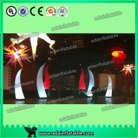 Quality Colorful Changing Inflatable Advertising , LED Inflatable Light Tower 3mH Party Event Cone for sale