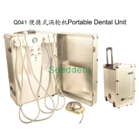 Quality Portable Dental Unit with 600ML Clean Water Bottle / Mobile Dental Unit with Air Compressor SE-Q041 for sale