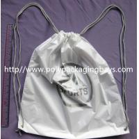 Quality PersonalizedPP Promotion  Packaging / White Plastic Drawstring Backpack for sale