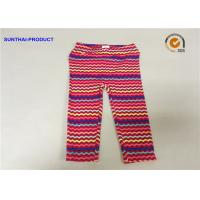 Quality No Side Seam Cute Baby Girl Leggings 95% Cotton 5% Spandex Jersey With Sea Waves Printed for sale