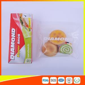 Buy cheap Airtight Plastic Zipper Sandwich Bags , Zip Lock Reusable Food Storage Bags from Wholesalers