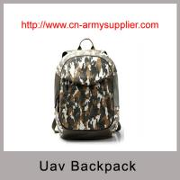 China Camouflage PU Unmanned Aerial Vehicle (UAV) Drone backpack style carry bag on sale