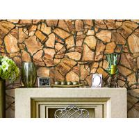 Quality 3D Effect Stone Pattern Durable Popular Wallpaper For House Wall With Pvc Material for sale
