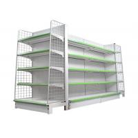 China Metal Supermarket Gondola Shelving , Heavy Duty Commercial Display Racks on sale