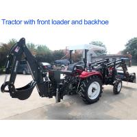 Quality 4WD Agriculture Farm Tractors 30hp Diesel Engine With Front Loader And Backhoe for sale
