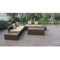 Quality Plastic Rattan Furniture Soft Set With 100x100x70cm Middle Sofa for sale