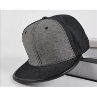 Quality Fitted Baseball Style Leather Brim wool Quality Grey Blank Snapback cap for sale