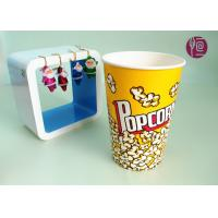 Quality 46oz Top120mm Disposable Paper Popcorn Buckets 1275ml Volume BRC FDA for sale