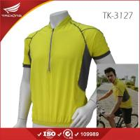 China 2015 new style for mens summer breathable yellow cycling shirts on sale