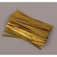 Quality metallic wired twist tie for baking/gift/bag packaging for sale