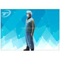 Quality Blue Color Disposable Polythene Aprons 69 X 107 Cm Waterproof for sale