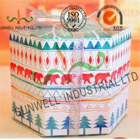 Quality Personalized Hexagon Cardboard Food Packaging Boxes With Ribbon Bow Decoration for sale