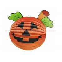 Quality Halloween Designs Pumpkin Paper Lantern For Home Decoration , Party , Toys for sale
