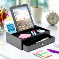 Quality Wooden Ipad / Iphone Charging Station And Valet With 5 Compartments for sale