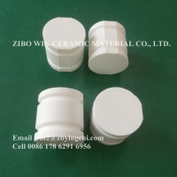 Quality alumina ceramic wear resistant half cylinder with slots for sale