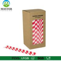 China Biogradable customized kraft box packed  colorful drinking paper straws on sale