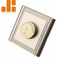 Quality 0 - 100% Triac Dimming LED Dimmer Switch With Golden Appearance 86*86 Knob Switch for sale