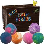 Quality Single Color Kid Safe Bath Bomb Set With Surprise Toys , 6 x 5oz Fun Assorted Colored XL Bath Fizzer for sale