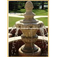 Quality Carved Natural Stone Water Fountain for sale