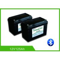 Quality Patent Bluetooth Deep Cycle RV Battery , Lithium Camper Trailer Battery12V 125Ah for sale