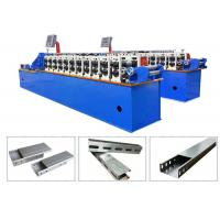 Quality 22KW Cable Tray Roll Forming Machine 18~22 Rollers Simple Structure Linear Type for sale