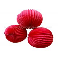 Buy cheap Solid Color Round Accordion Paper Lanterns , hanging wedding lanterns from Wholesalers