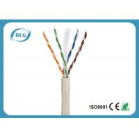 Quality Gigabit Ethernet Cat6 LAN Cable 23AWG 24AWG UTP Category 6 Cable PVC Jacket for sale