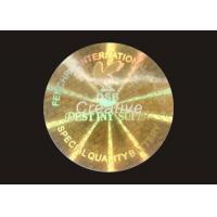 Recycled Round PET 3D Printing Tamper Proof Hologram Stickers For CD