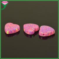 Quality OP22 10mm pink heart opal synthetic opal for pendant for sale