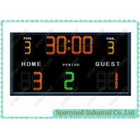 Buy cheap College Electronic Football Scoreboards , Wireless Futsal Scores Display Boards from Wholesalers