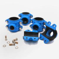 Quality Epoxy Powder Coating Cast Iron Pipe Fittings Clamp On Pipe Grooved Coupling for sale