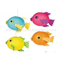 Buy cheap Amusing Tropical Decorated Paper Lanterns For Toys / Party , Free Sample from Wholesalers