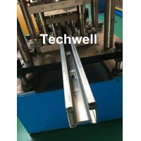 Buy PPGI, Galvanized Steel Guide Rail Roll Forming Machine With Disk Saw Cutting For at wholesale prices