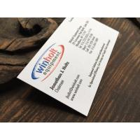 China Eco Friendly Premium Business Cards 89*51mm With Varnishing Raised Ink for sale