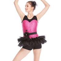 Quality Biketard Jazz Costume Dance Wear Sequins Joints Lace Performance Dance Competition Clothes for sale