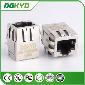 PCB Mount shielded Single Port RJ45 Ethernet connector Female GigaE 10p8c jack