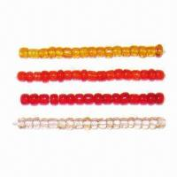 China Glass Seed Beads in Round, Bugle and 2-cut Shapes, Available in Various Colors  on sale