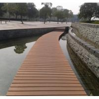 Anti - Flaming And Barefeet Composite Outdoor Decking With Natural Wood