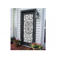 China Professional Wrought Iron And Glass Entry Doors For Building Sound Insulation on sale
