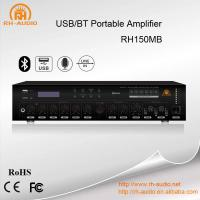 China RH-AUDIO Mixer Power Amplifier With USB/BT Public Address System on sale