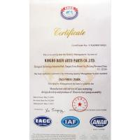 NingBo BAIFI Auto Parts CO.,LIMITED Certifications
