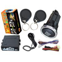 Quality Fully Functional Keyless Engine Start Stop System , Long Button Ignition Remote Start Alarm System for sale