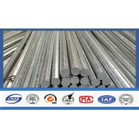 Quality Silver Galvanized Steel Electrical Power Pole For Transmission Galvanized Line for sale