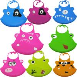 China Customized logo Eco-friendly Soft FDA silicone rubber baby bib elastic on sale