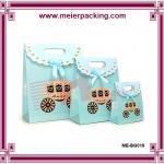 Quality fashionable gift paper bag/Cute Packaging Paper Bags for Gift/Gift Bags Blue Bow Paper Gift Bag ME-BG019 for sale