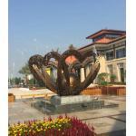 China ODM / OEM Custom Metal Sculpture , Metal Landscape Sculpture For Square Decoration for sale