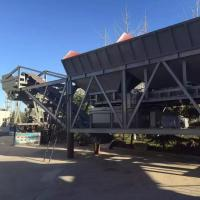Quality 500T / H Movable Stabilized Soil Mixing Station Double Shaft Forced With Bin for sale