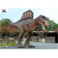 Quality Attractive Animatronic Jurassic Dinosaur Garden Statue Mouth Movement With Sounds for sale
