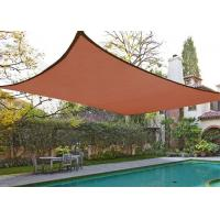 Quality Rectangle Sand Sun Shade Patio Cover , Outdoor Shade Sails 10' X 13' 185GSM for sale
